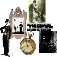 Charlie Chaplin collage by SeltzerAddict