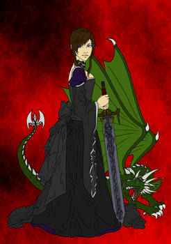 Dragon and the Maiden +colored