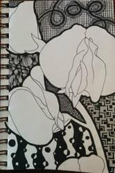 Sweet Pea Zentangle by steffy0075