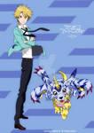 tri. - Yamato and Gabumon