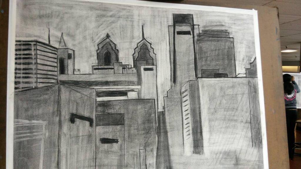 Philly skyline  by trome9412