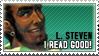 L. STEVEN CAN READ GOOD STAMP by heysawbones