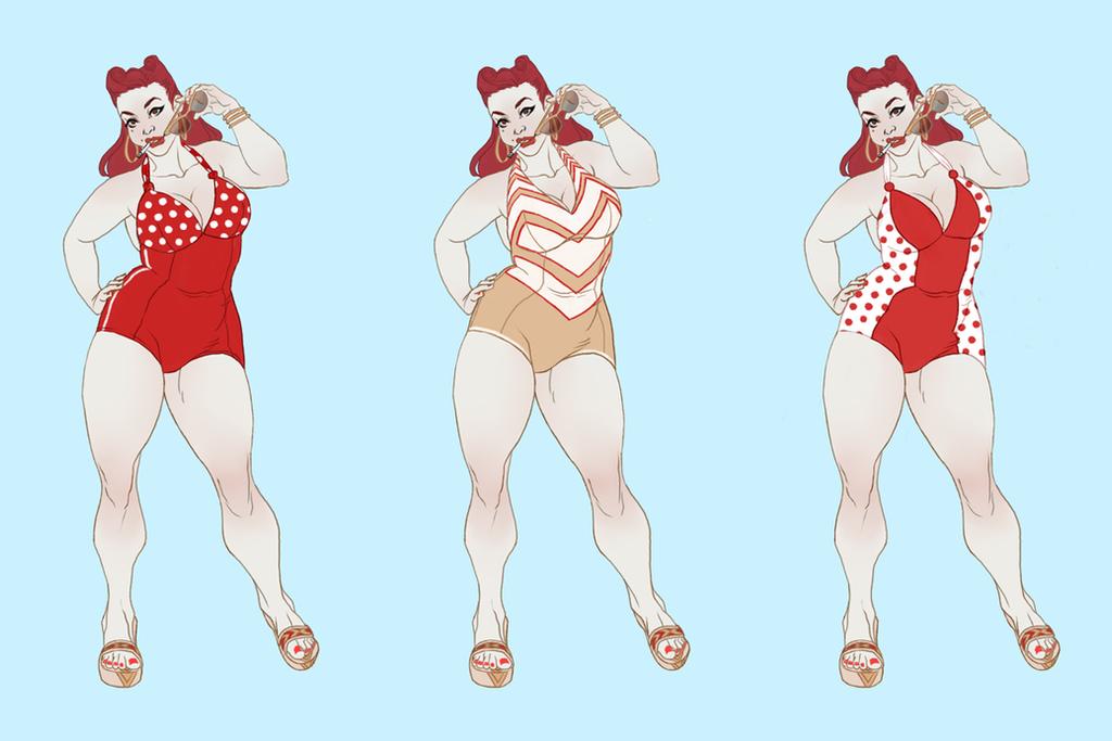 Layla Swimsuit Set 01 by heysawbones