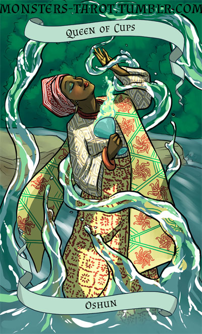Queen of Cups - Oshun, river goddss by ninniku