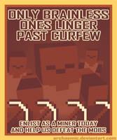 Minecraft Propaganda: Zombie by archaemic