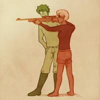 hsr - shootin lessons by affectionateTea