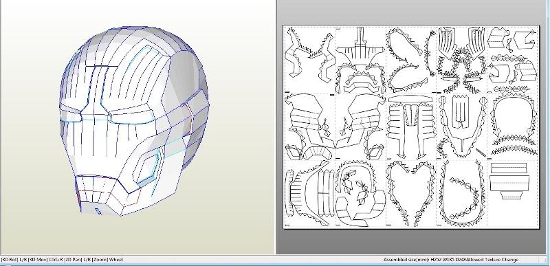Iron Man Helmet Mark 43 42 pepakura by Gimpe