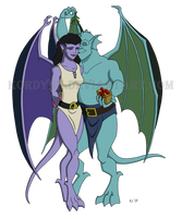 Gargoyles and Mistletoe by Kordyne