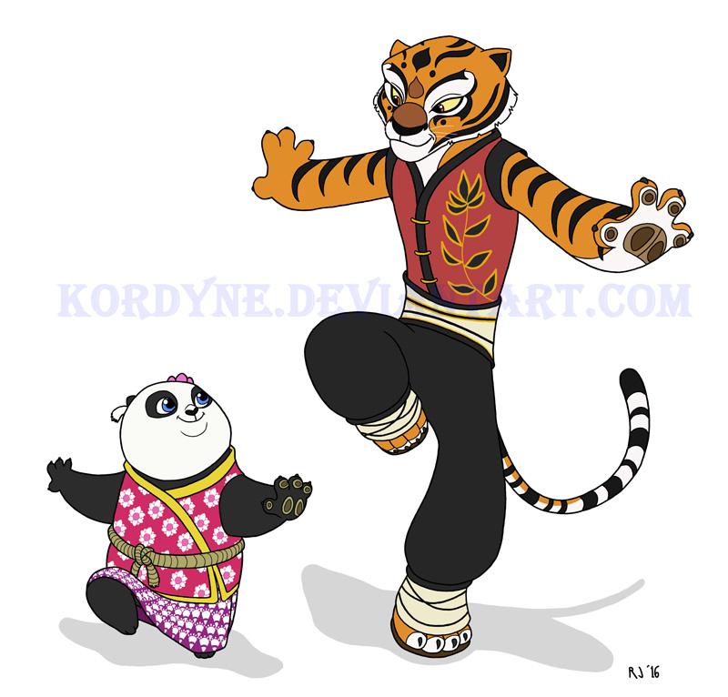 Kung fu panda po and tigress anime