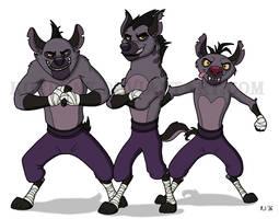 Kung Fu Hyenas by Kordyne