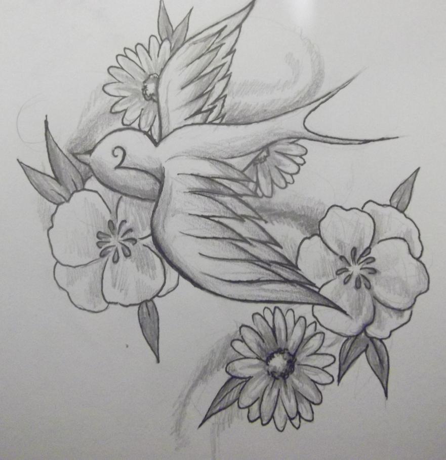 swallow tattoo design by emilyb3545 on deviantart. Black Bedroom Furniture Sets. Home Design Ideas