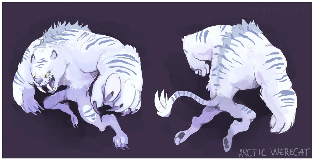 Monster Monday- Arctic Werecat by 5targuitar