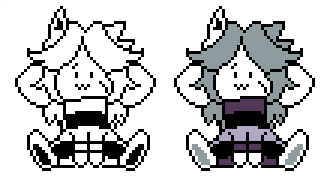 [SWAPFELL] Temmie Battle sprites by RockmanThetis
