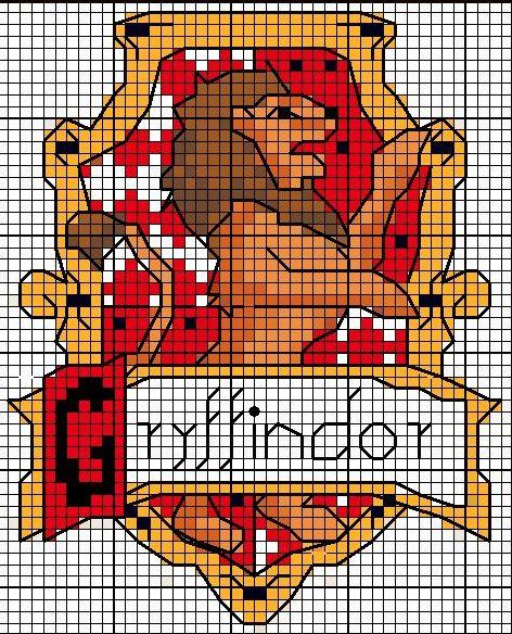 Gryffindor crest pattern by Astraan