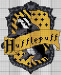 Hufflepuff crest pattern