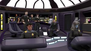Republic Refit - Bridge Crew by ashleytinger