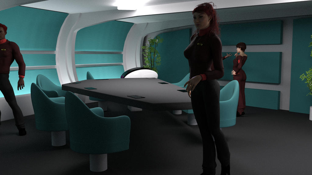 Constitution Class Refit Briefing Room Angle 1 by ashleytinger