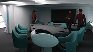 Constitution Class Refit Briefing Room Angle 3