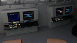 Destroyer  Impulse and Fusion Reactor Console
