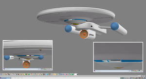Civilian Scout Ship WIP 12 - Liberty Class by ashleytinger