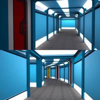 Civilian Scout - Liberty Class - Corridor WIP 02 by ashleytinger