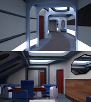 Aurora VIP and Senior Officer Corridor and Cabin by ashleytinger