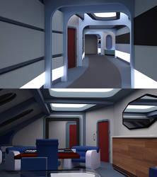 Aurora VIP and Senior Officer Corridor and Cabin