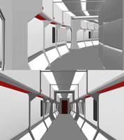 24th Century Starship Corridor - Non-Galaxy - WIP by ashleytinger