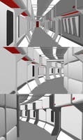 24th Century Corridor - Primary Hull WIP Assembled by ashleytinger