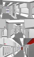 24th Century Corridor - 2nd Hull WIP Assemble by ashleytinger