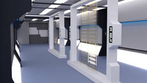24th Century Corridor - Engineering Lobby