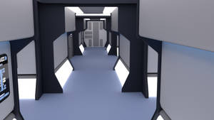 24th Century Corridor - Eng. Lateral Access by ashleytinger