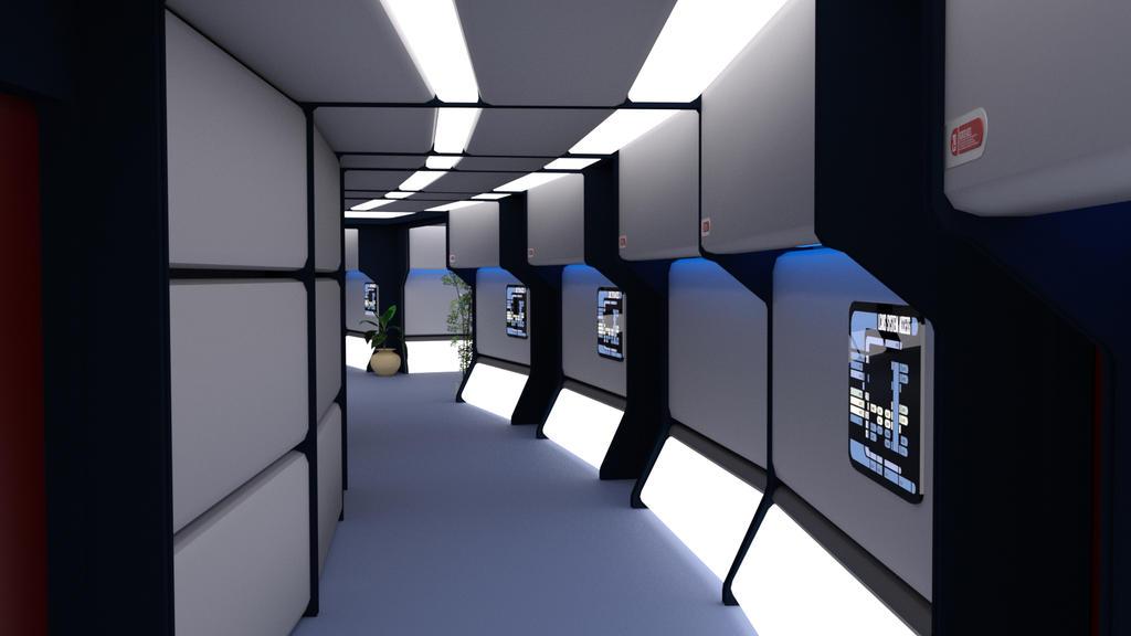 24th Century Corridor - Saucer Corridor 2