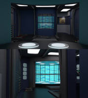 23rd Century Transporter Pad and Control Booth by ashleytinger