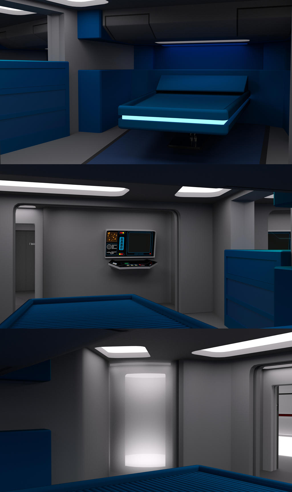 23rd Century Junior Officers Quarters Unfurnished