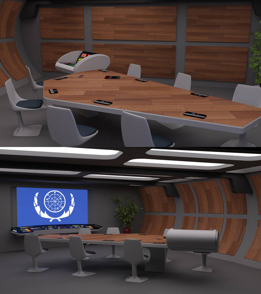 23rd Century Briefing Room 1 by ashleytinger