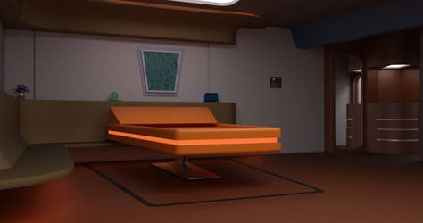 TOS Stateroom - Bedroom by ashleytinger