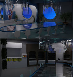 TOS Stateroom - Dining and Kitchen Area by ashleytinger