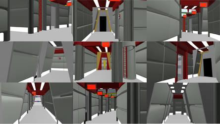 Throwback Corridors WIP 02 by ashleytinger