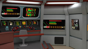 Bridge of the Week - TOS Engineering Console by ashleytinger