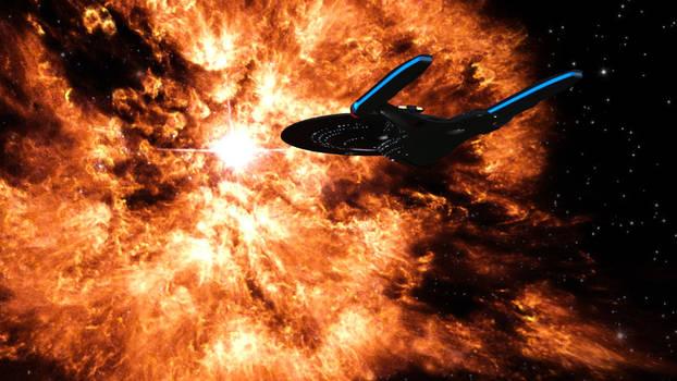 Aurora studies a Wolf-Rayat Star - Render Test 2