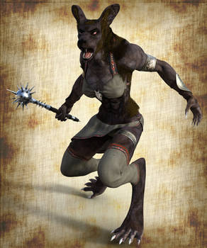 Monster Manual - Female Gnoll Render Test