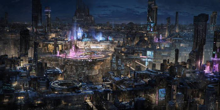 Sprawling city