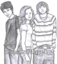 Harry Potter Trio by sarahfayek