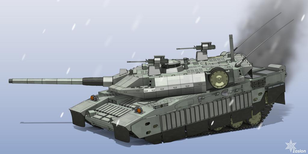 T-2 tank side view