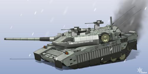 T-2 tank side view by Zaslon