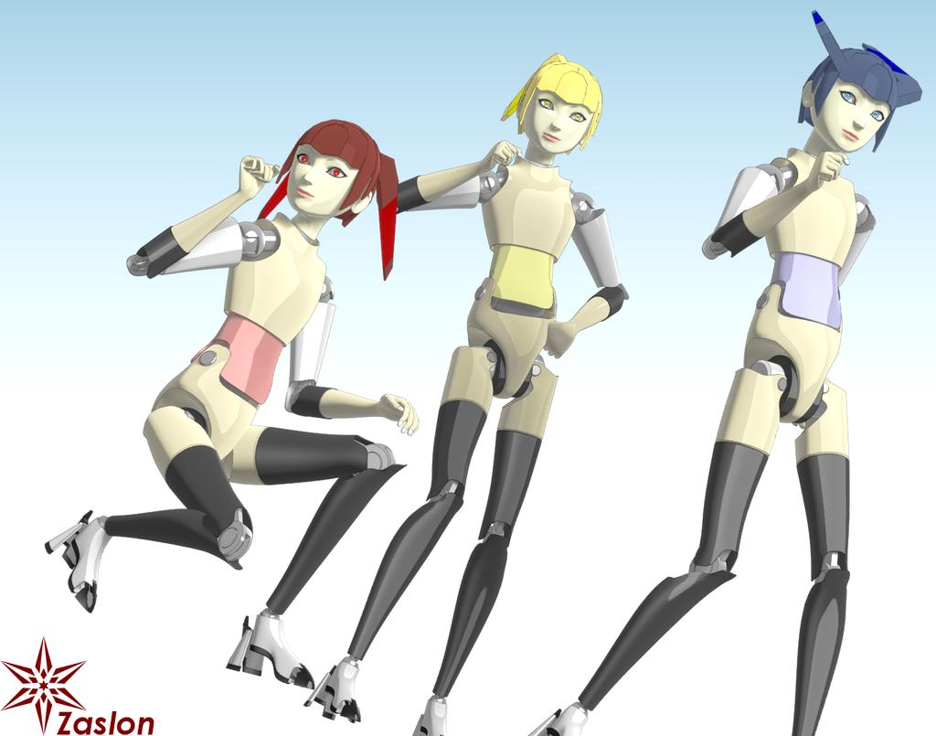 Robot Sisters by Zaslon