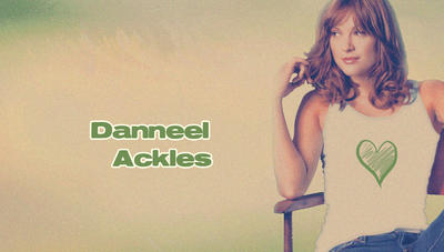 Danneel Ackles White Green heart by RoseAcklesWinchester