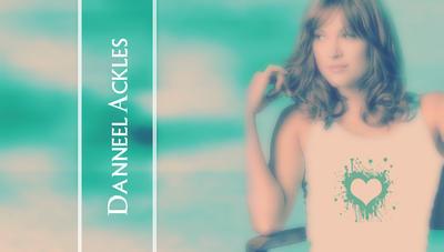 Danneel Ackles White Green heart V2 by RoseAcklesWinchester