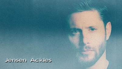 Jensen Ackles Black T-Shirt/Beard by RoseAcklesWinchester